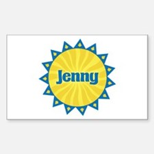 Jenny Sunburst Rectangle Decal