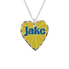 Jake Sunburst Necklace Heart Charm