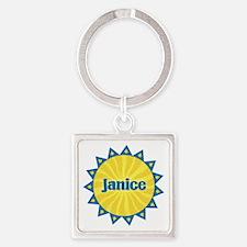 Janice Sunburst Square Keychain