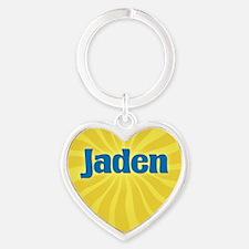 Jaden Sunburst Heart Keychain