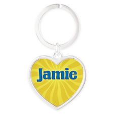 Jamie Sunburst Heart Keychain