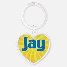 Jay Sunburst Heart Keychain