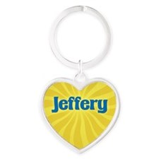 Jeffery Sunburst Heart Keychain