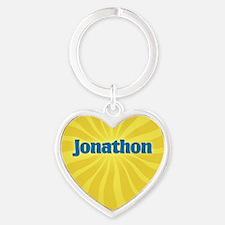Jonathon Sunburst Heart Keychain