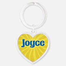 Joyce Sunburst Heart Keychain