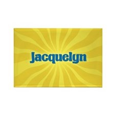 Jacquelyn Sunburst Rectangle Magnet