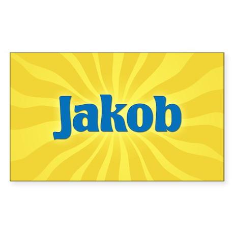 Jakob Sunburst Rectangle Sticker