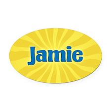 Jamie Sunburst Oval Car Magnet
