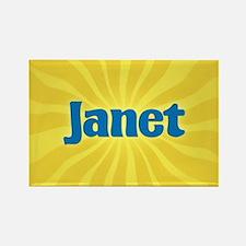 Janet Sunburst Rectangle Magnet