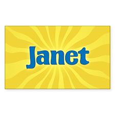 Janet Sunburst Oval Decal