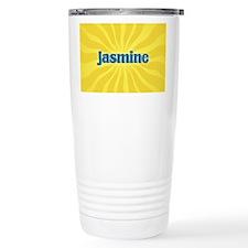 Jasmine Sunburst Travel Coffee Mug