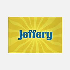 Jeffery Sunburst Rectangle Magnet