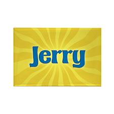 Jerry Sunburst Rectangle Magnet