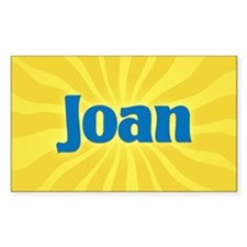 Joan Sunburst Oval Decal