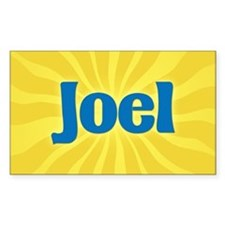 Joel Sunburst Oval Bumper Stickers