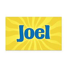 Joel Sunburst Retangular Car Magnet