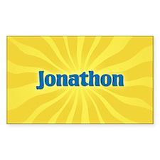 Jonathon Sunburst Oval Decal