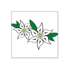 "Edelweiss Square Sticker 3"" x 3"""