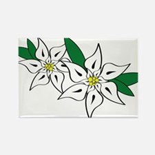 Edelweiss Rectangle Magnet