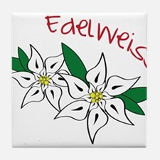 Edelweiss Tile Coaster