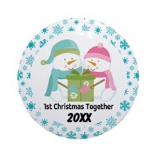 Personalized 1st Christmas Together Ornament