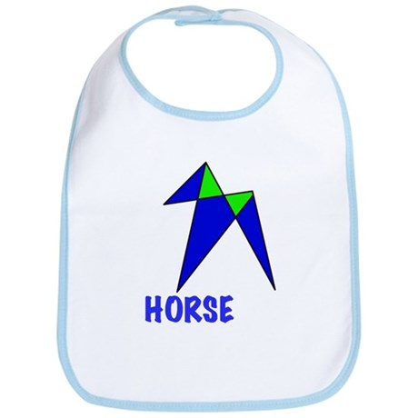 HORSE, abstract, gifts Bib