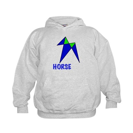 HORSE, abstract, gifts Kids Hoodie