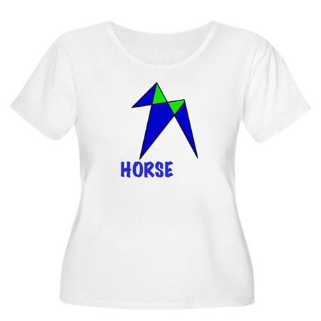 HORSE, abstract, gifts Women's Plus Size Scoop Nec