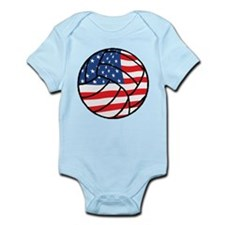 US Flag Volleyball Infant Bodysuit
