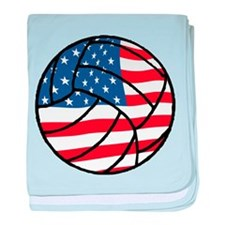 US Flag Volleyball baby blanket