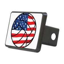 US Flag Volleyball Hitch Cover