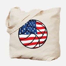 US Flag Volleyball Tote Bag