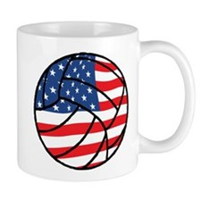 US Flag Volleyball Mug