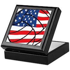 US Flag Volleyball Keepsake Box