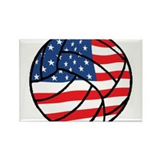 US Flag Volleyball Rectangle Magnet