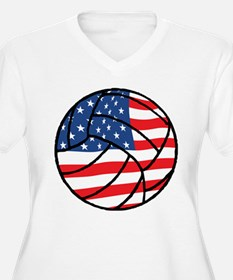 US Flag Volleyball T-Shirt