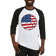 US Flag Volleyball Baseball Jersey