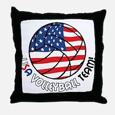 USA Volleyball Team Throw Pillow
