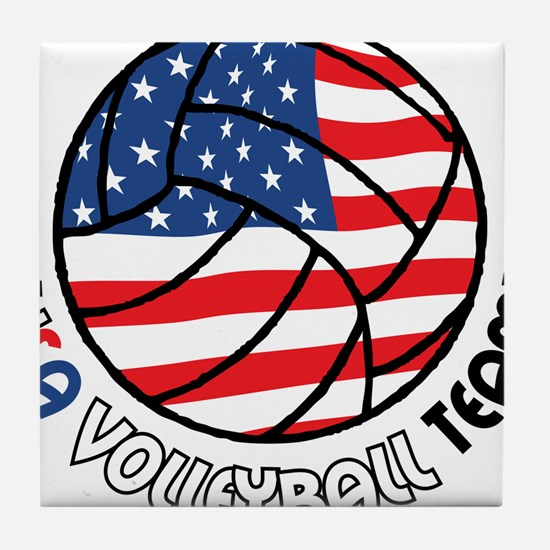 USA Volleyball Team Tile Coaster