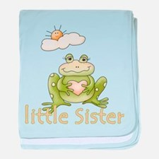 Little Sister Frog baby blanket