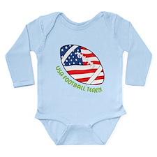USA Football Team Long Sleeve Infant Bodysuit