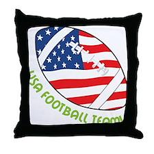 USA Football Team Throw Pillow