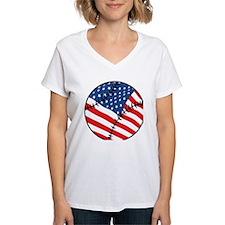 US Flag Baseball Shirt