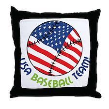 USA Baseball Team Throw Pillow