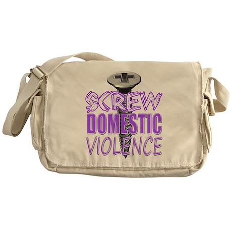 Screw Domestic Violence.png Messenger Bag