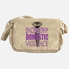 Screw Domestic Violence.png Messenger Bag