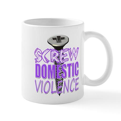 Screw Domestic Violence.png Mug