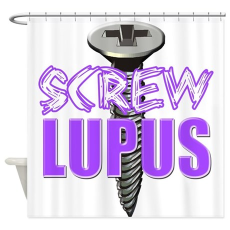 Screw Lupus.png Shower Curtain