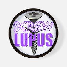 Screw Lupus.png Wall Clock