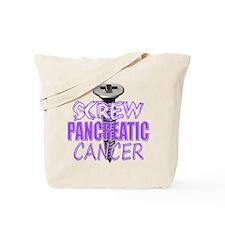 Screw Pancreatic Cancer Tote Bag